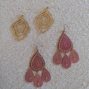 Forever 21 Moroccan Boho Gypsy Dangle Earrings